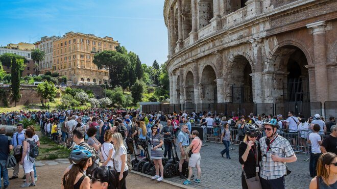 Mass Tourism - The Colosseum at 10am