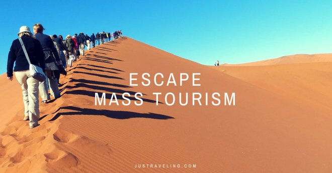 escape mass tourism