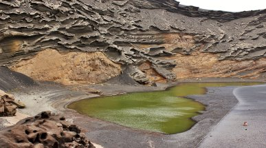 The Green Lagoon at El Golfo, Lanzarote, Spain