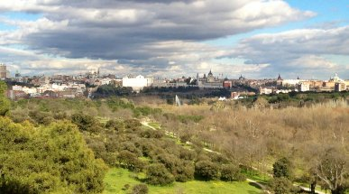 Madrid from Casa de Campo, Spain