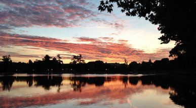 Casa de Campo Lake at Dawn, Madrid, Spain