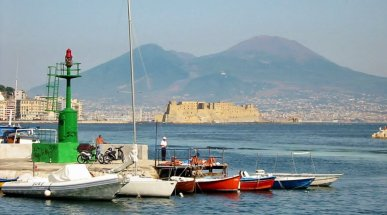 The Bay of Naples with Vesuvius and Castel dell'Ovo, Italy