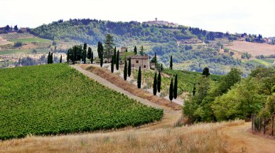 A Village in the Chianti Hills, Tuscany, Italy