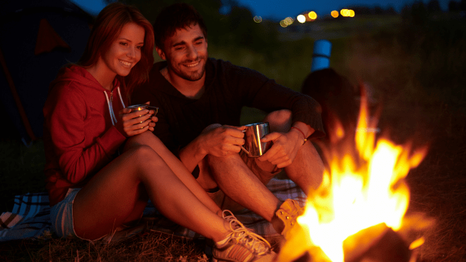 Romantic Camping Ideas - Night in Camp