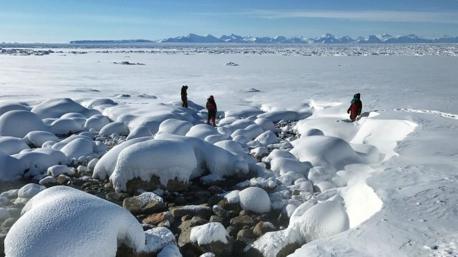 Walking on the Sea Ice of East Greenland