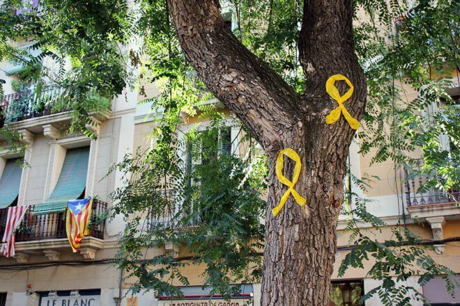 Catalan Independence in Barcelona - The Trees, Silent Witnesses...