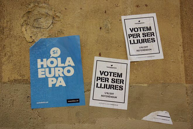 "Catalan Independence in Barcelona - A Nice Set of ""Indie"" Posters"