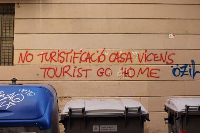 Protest Signs: Touristification, No Thanks