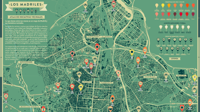 Los Madriles: A Map of Madrid and Its Community Initiatives