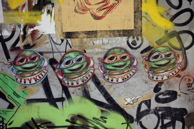 Street Art in Barcelona: Ninja Turtles by City Kitty