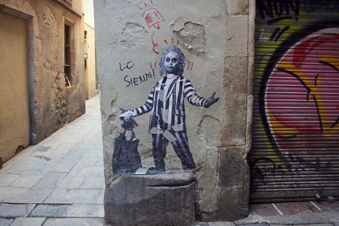 Street Art in Barcelona: Lo Siento! (Sorry)