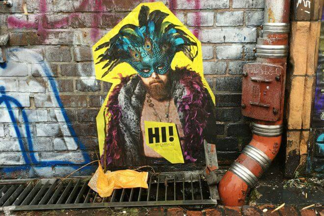 Berlin Street Art: Promo for Hi! by Capitano, Chalet Berlin