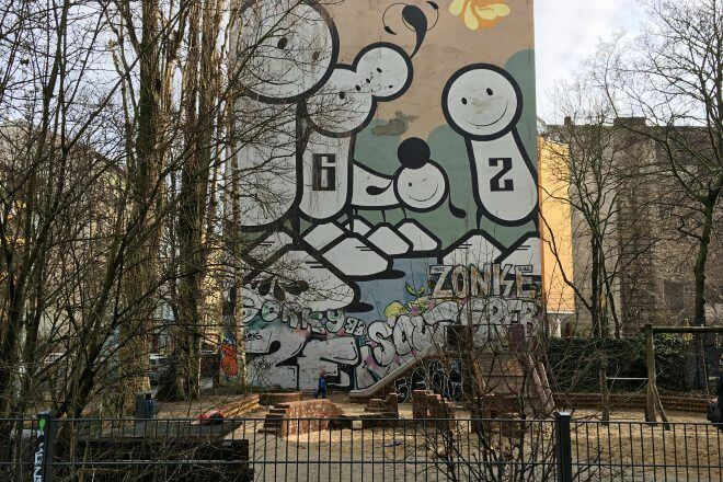 Berlin Street Art: Mural + Playground in Kreuzberg
