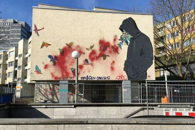 Berlin Street Art: Mural by Don John, Mehringplatz