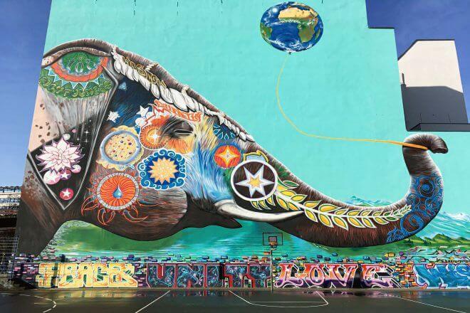 Berlin Street Art: Mural by Jadore Tong (SYRUS), Kreuzberg