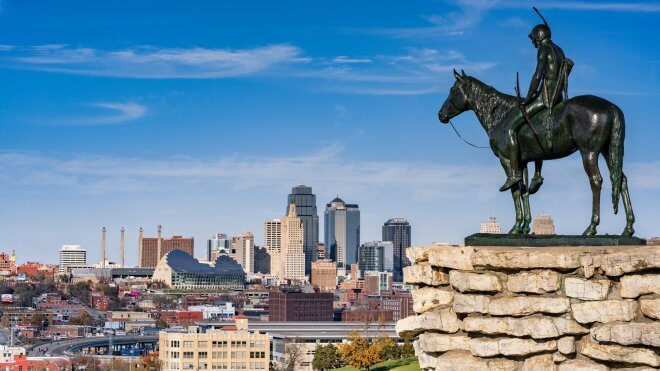US Coast to Coast: The Scout Overlooking Kansas City